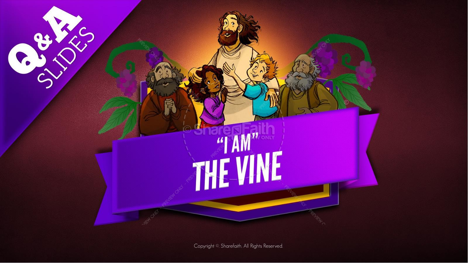 John 15 I Am The Vine Kids Bible Story