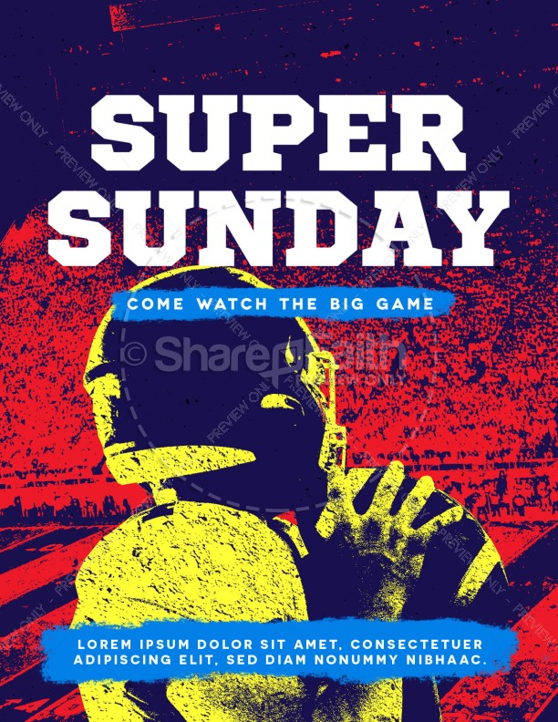 Super Sunday Football Church Flyer