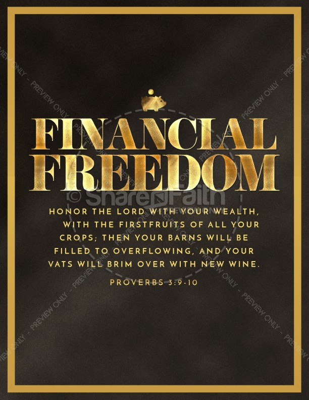 Financial Freedom Church Flyer Template