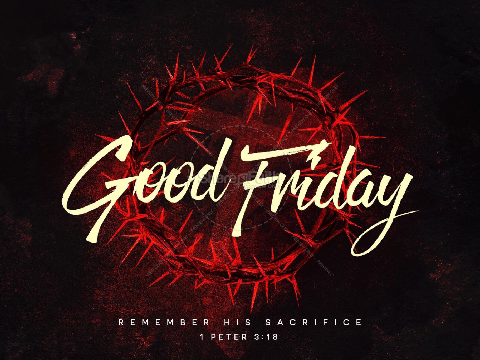Good Friday Church Service PowerPoint | slide 1