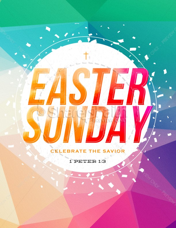 Easter Sunday Service Flyer Template | page 1
