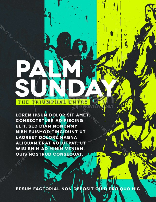 Palm Sunday Triumphal Entry Flyer Template