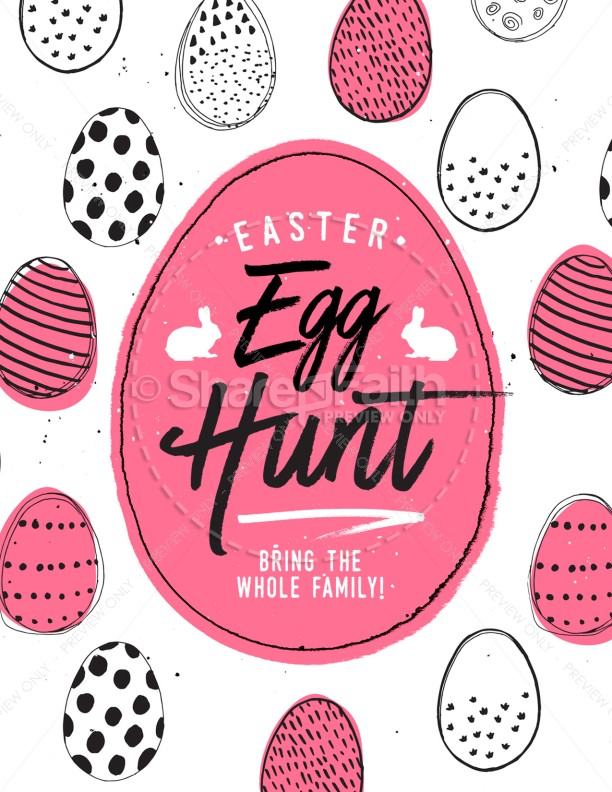 Church Easter Egg Hunt Flyer Template