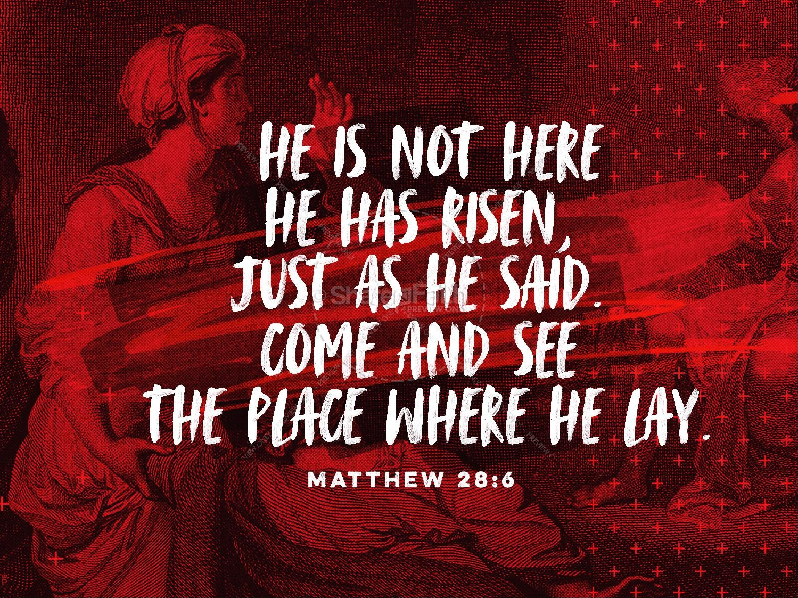He Is Not Here For He Is Risen Easter PowerPoint