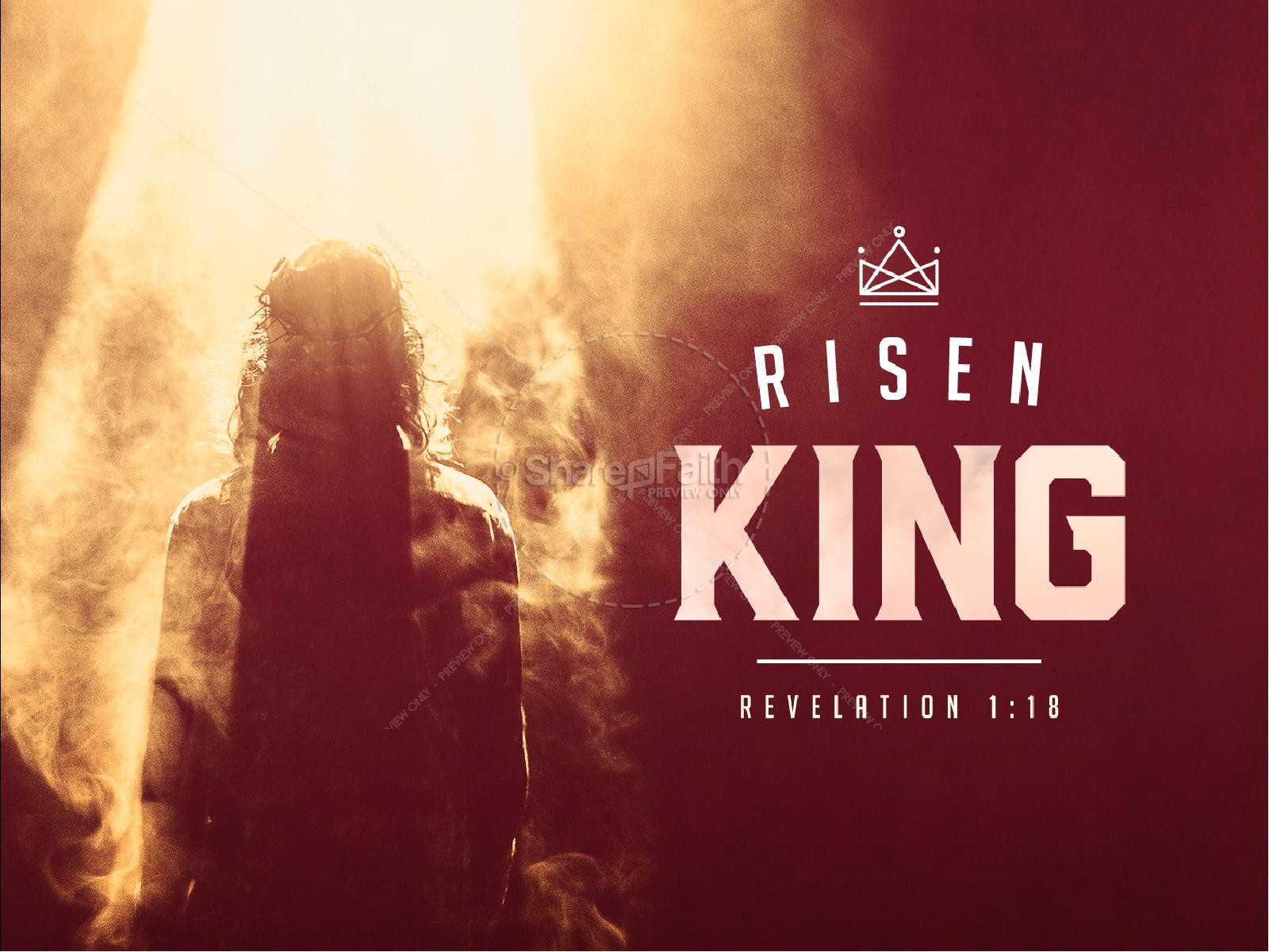 Risen King Easter Church Sermon PowerPoint | slide 1