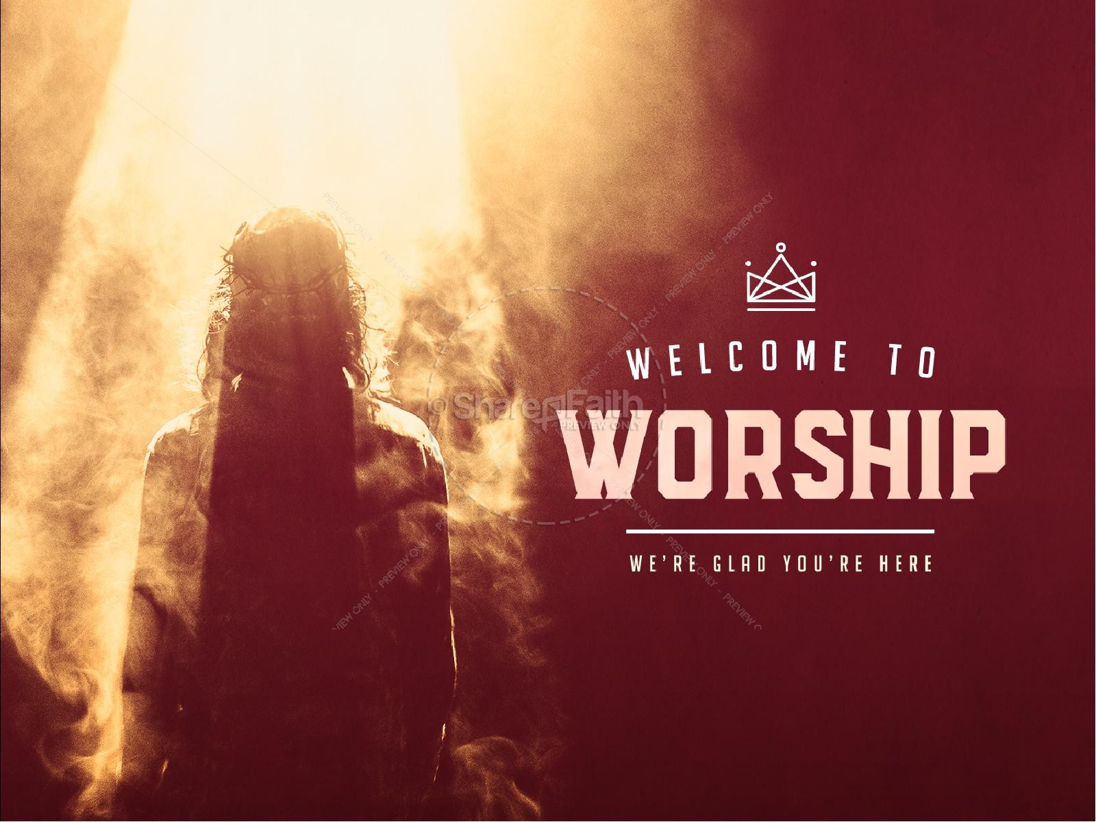 Risen King Easter Church Sermon PowerPoint