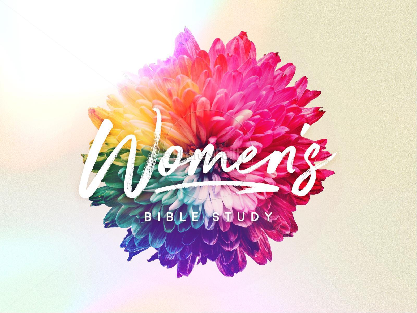 Women's Bible Study PowerPoint Template | slide 1