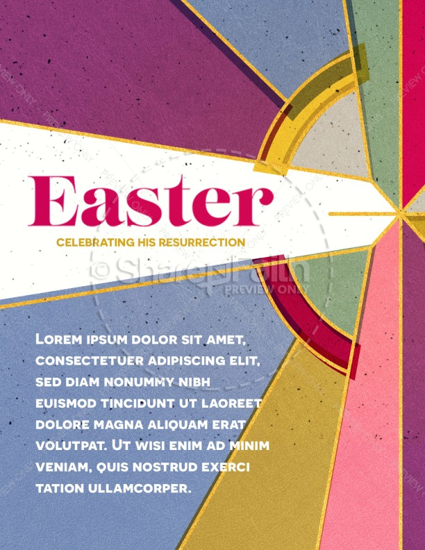 Stained Glass Easter Church Flyer