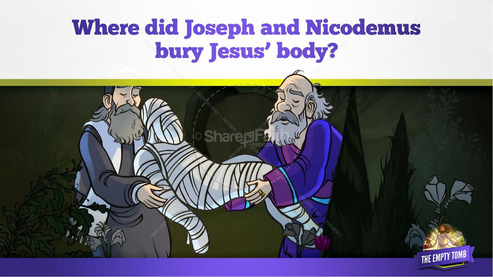 John 20 The Empty Tomb Kids Bible Story | slide 15