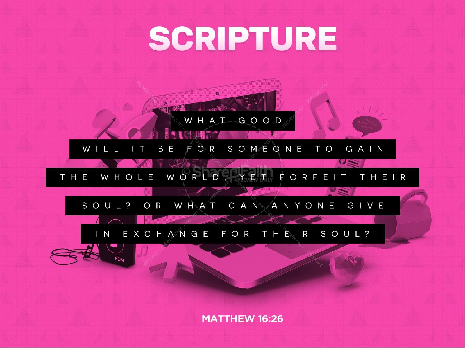 Distracted Sermon PowerPoint Template
