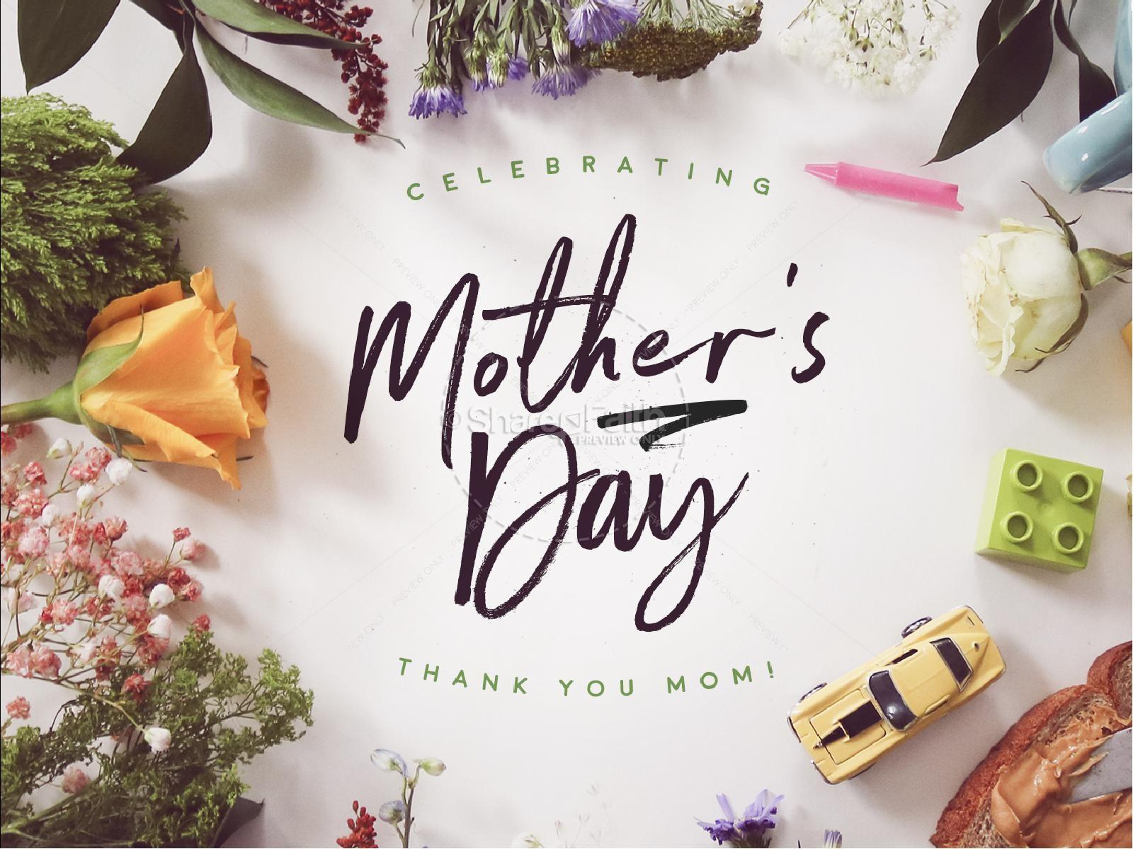 Celebrating Mother's Day Sermon PowerPoint   slide 1