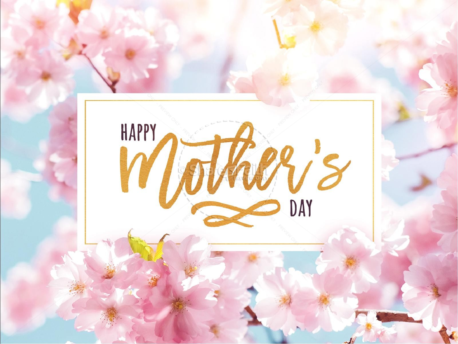 Mother's Day Cherry Blossom PowerPoint Template
