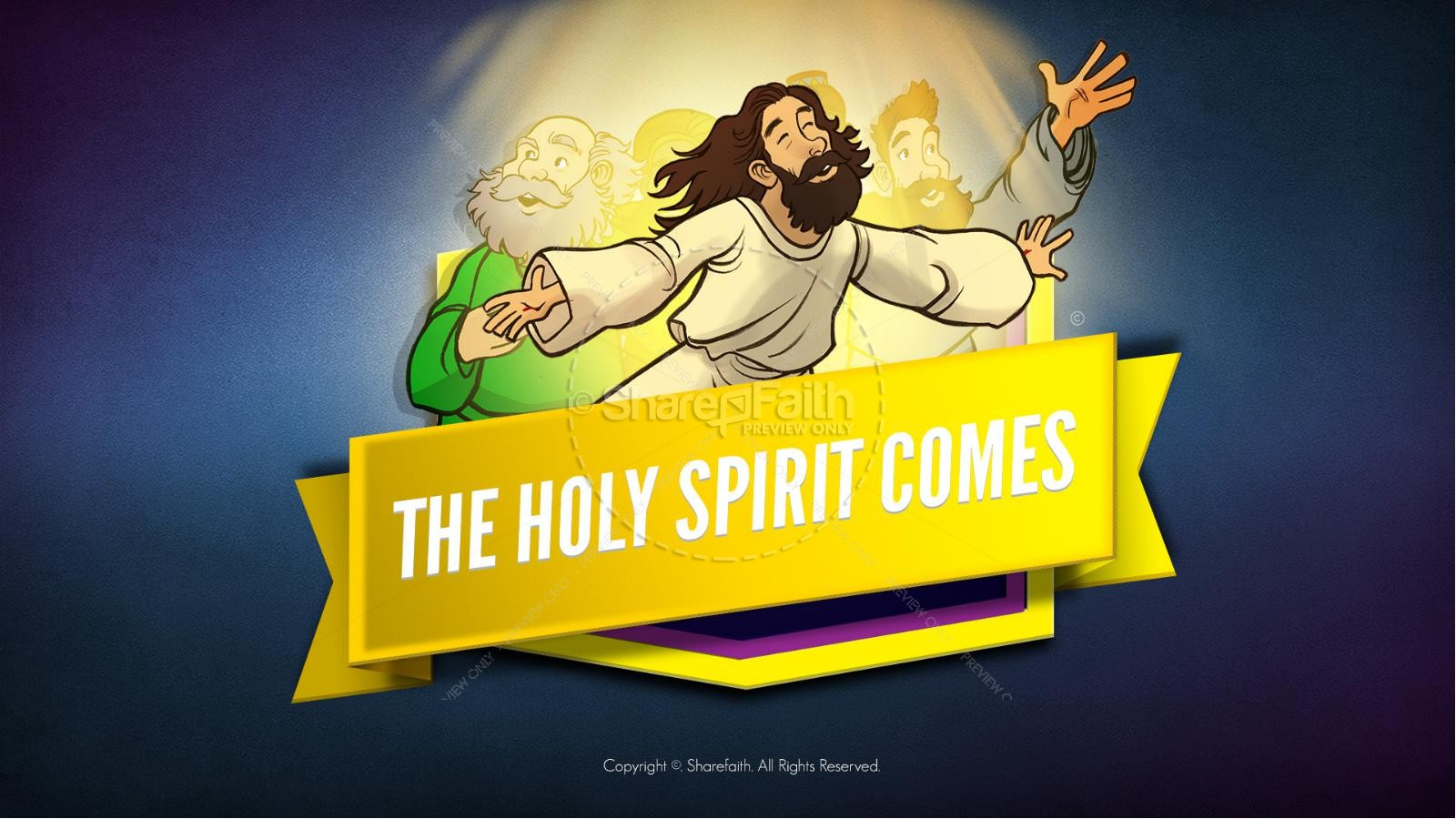 Acts 2 The Holy Spirit Comes Kids Bible Story   slide 1