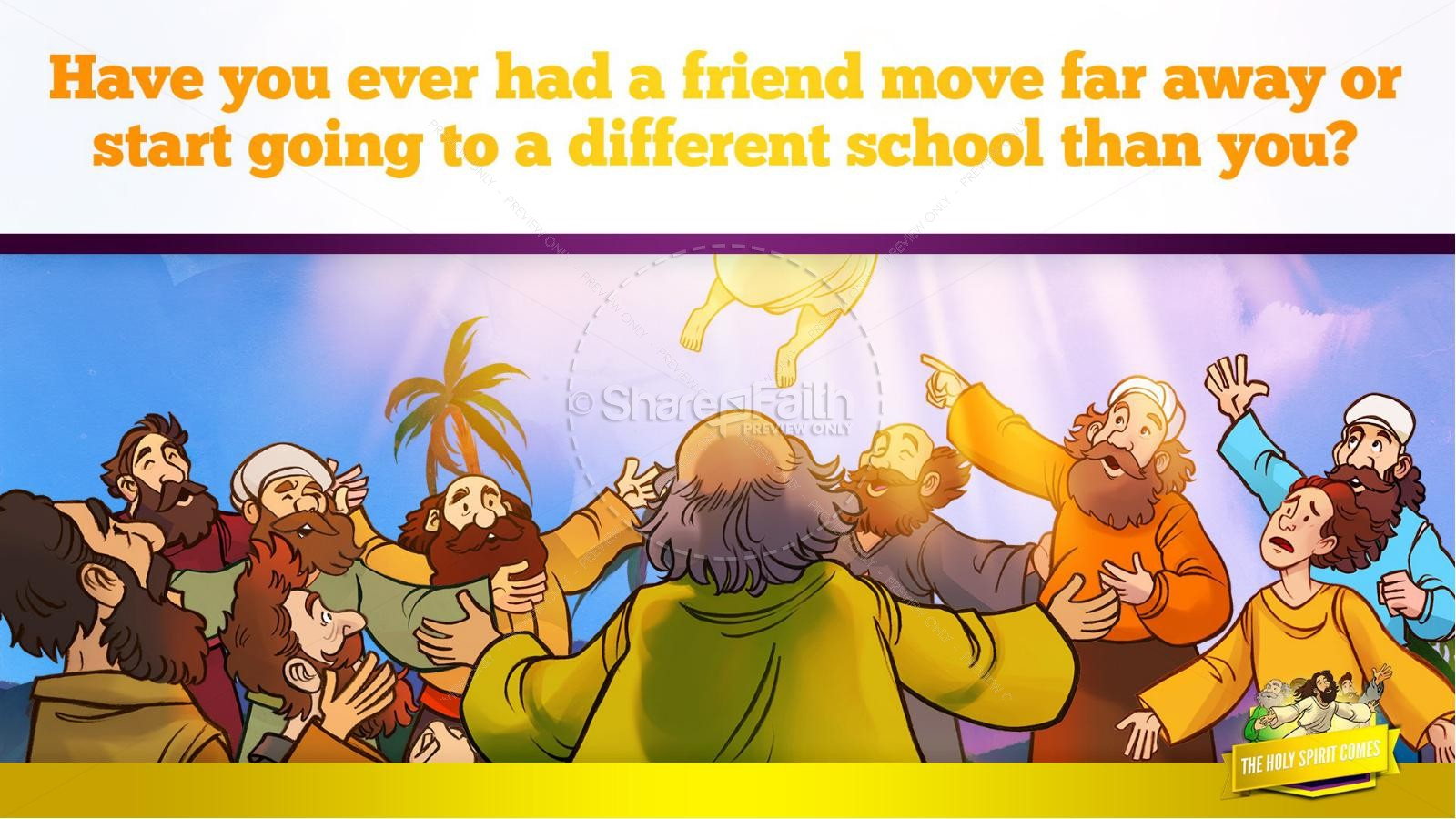 Acts 2 The Holy Spirit Comes Kids Bible Story | slide 13