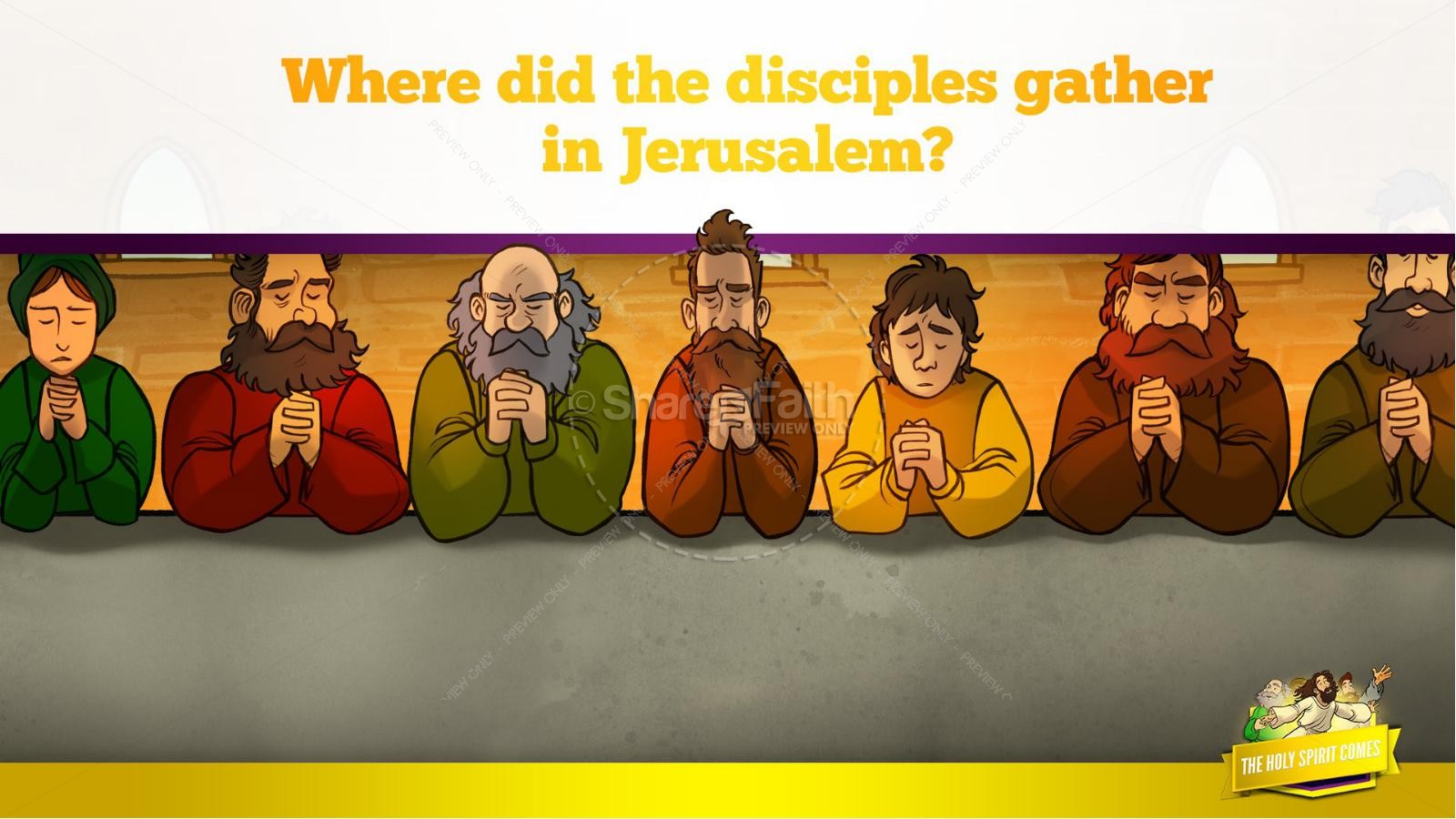 Acts 2 The Holy Spirit Comes Kids Bible Story | slide 15