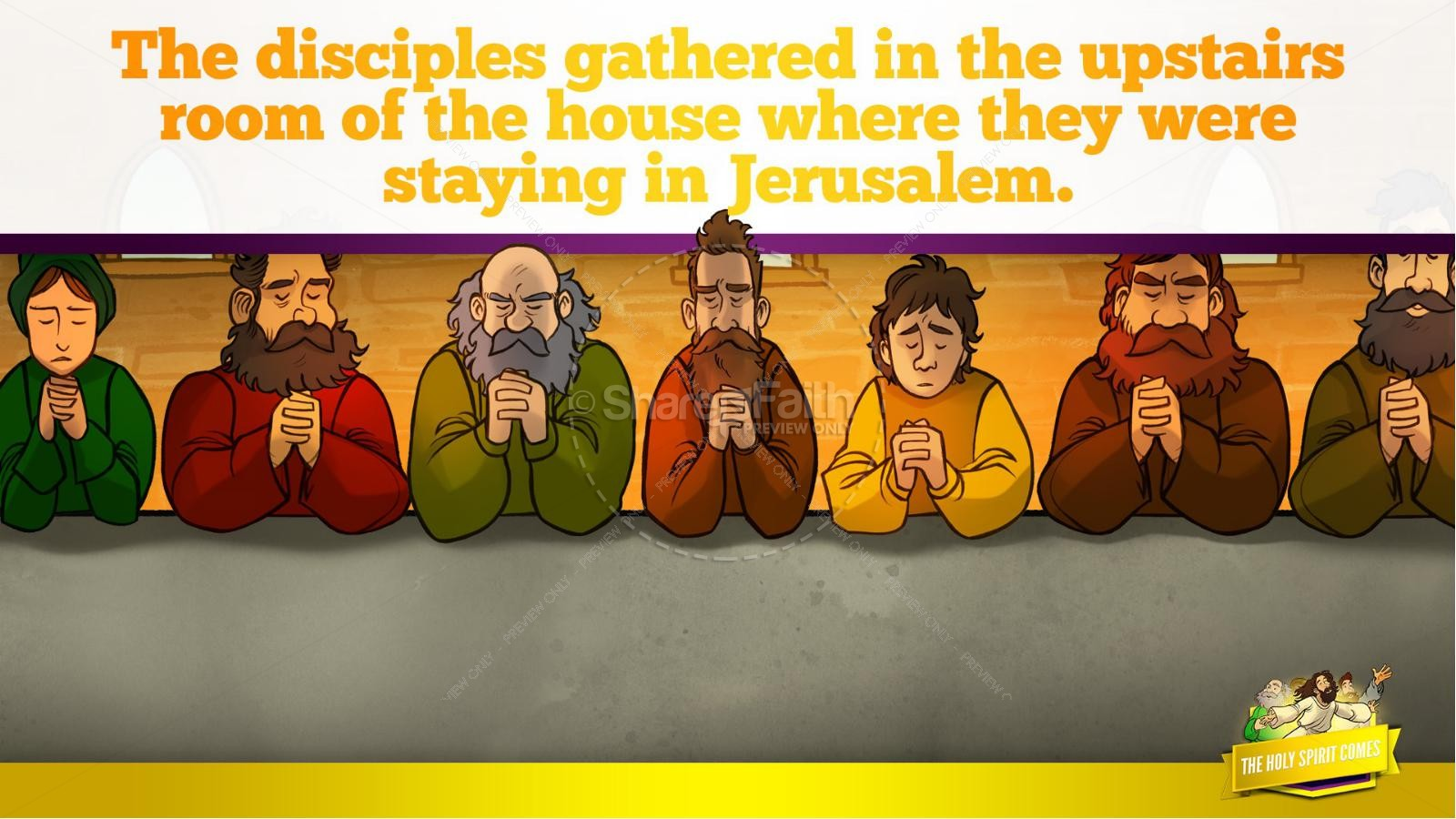Acts 2 The Holy Spirit Comes Kids Bible Story | slide 16