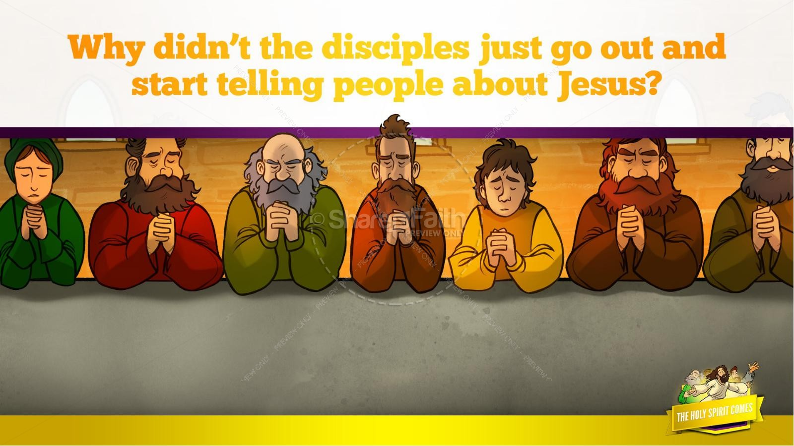 Acts 2 The Holy Spirit Comes Kids Bible Story | slide 17