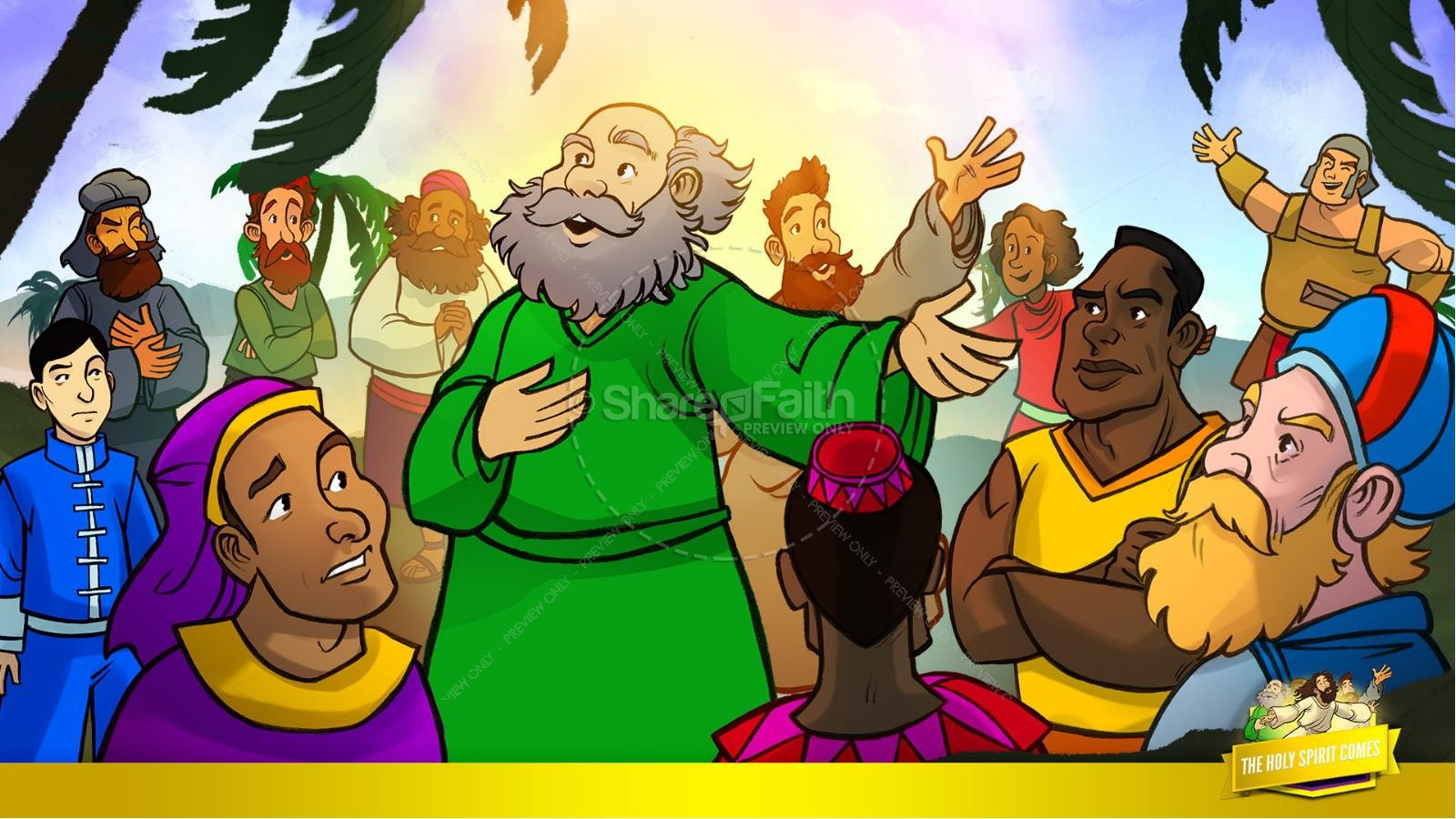 Acts 2 The Holy Spirit Comes Kids Bible Story | slide 22