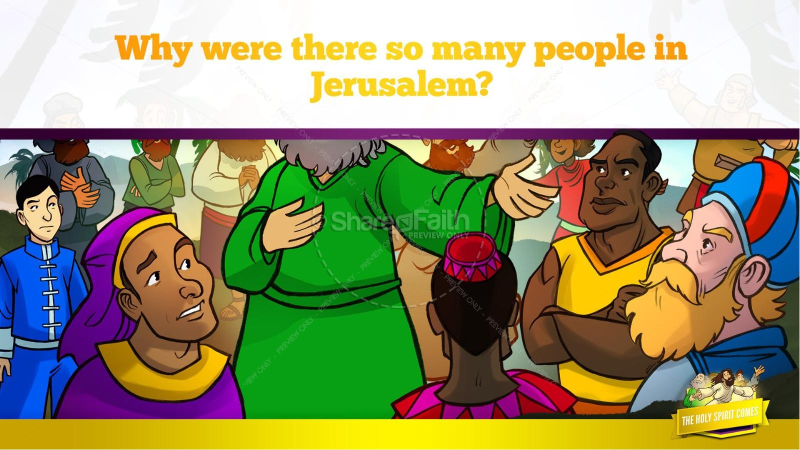 Acts 2 The Holy Spirit Comes Kids Bible Story | slide 23