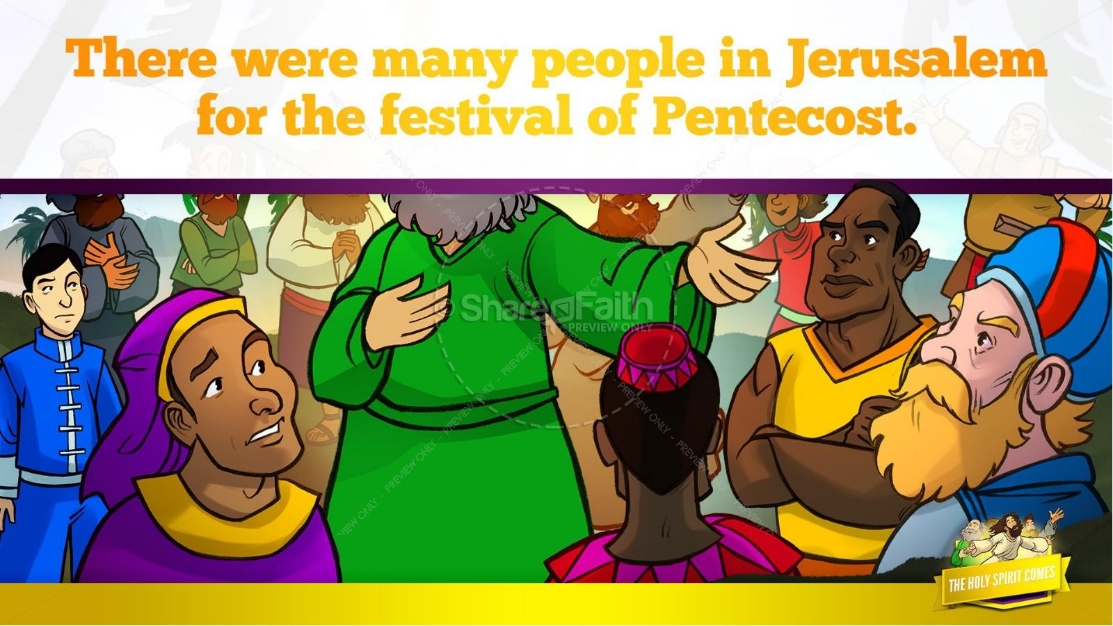 Acts 2 The Holy Spirit Comes Kids Bible Story | slide 24