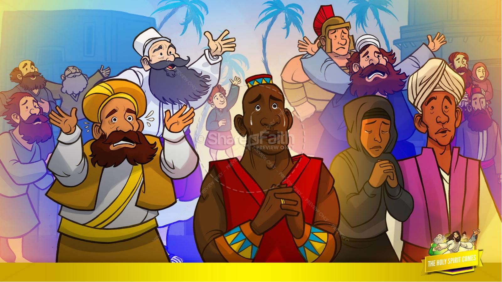 Acts 2 The Holy Spirit Comes Kids Bible Story | slide 30
