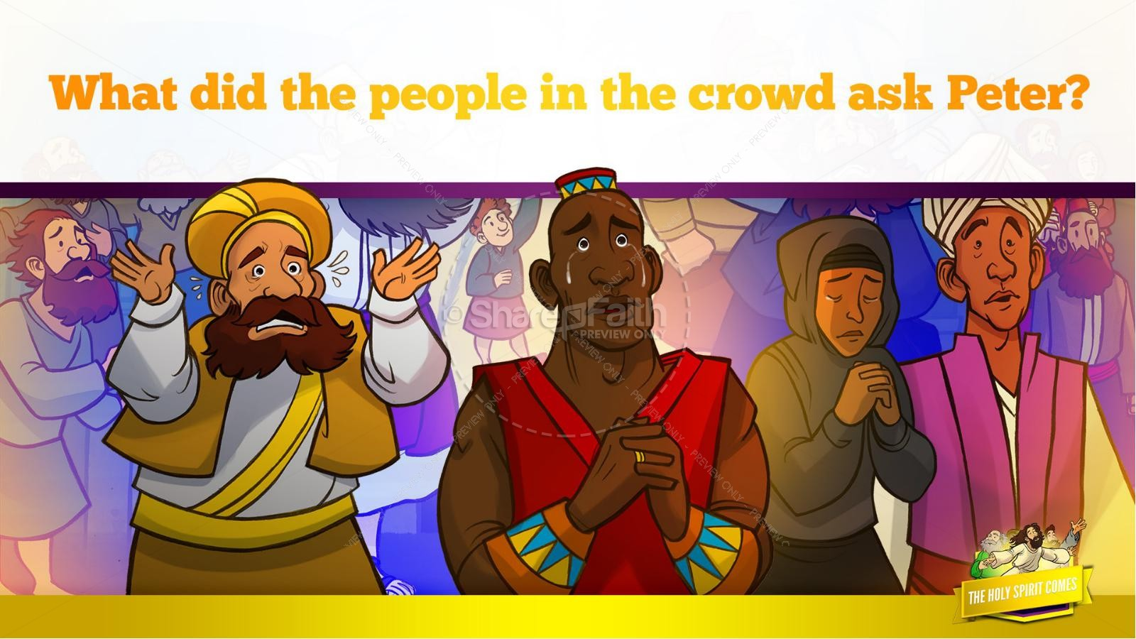 Acts 2 The Holy Spirit Comes Kids Bible Story | slide 31