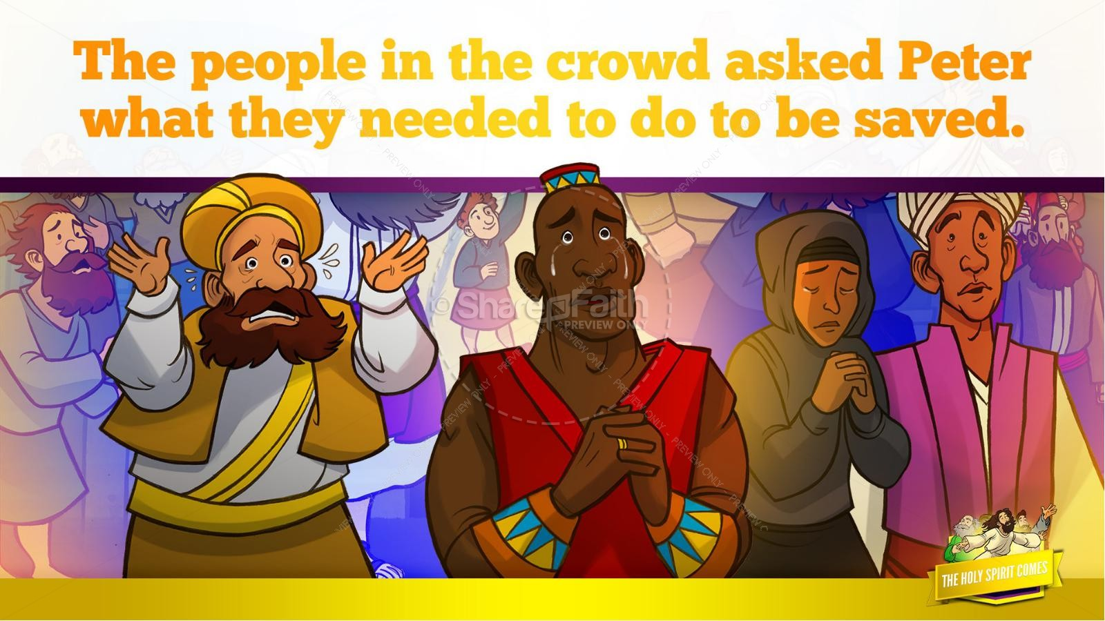 Acts 2 The Holy Spirit Comes Kids Bible Story | slide 32