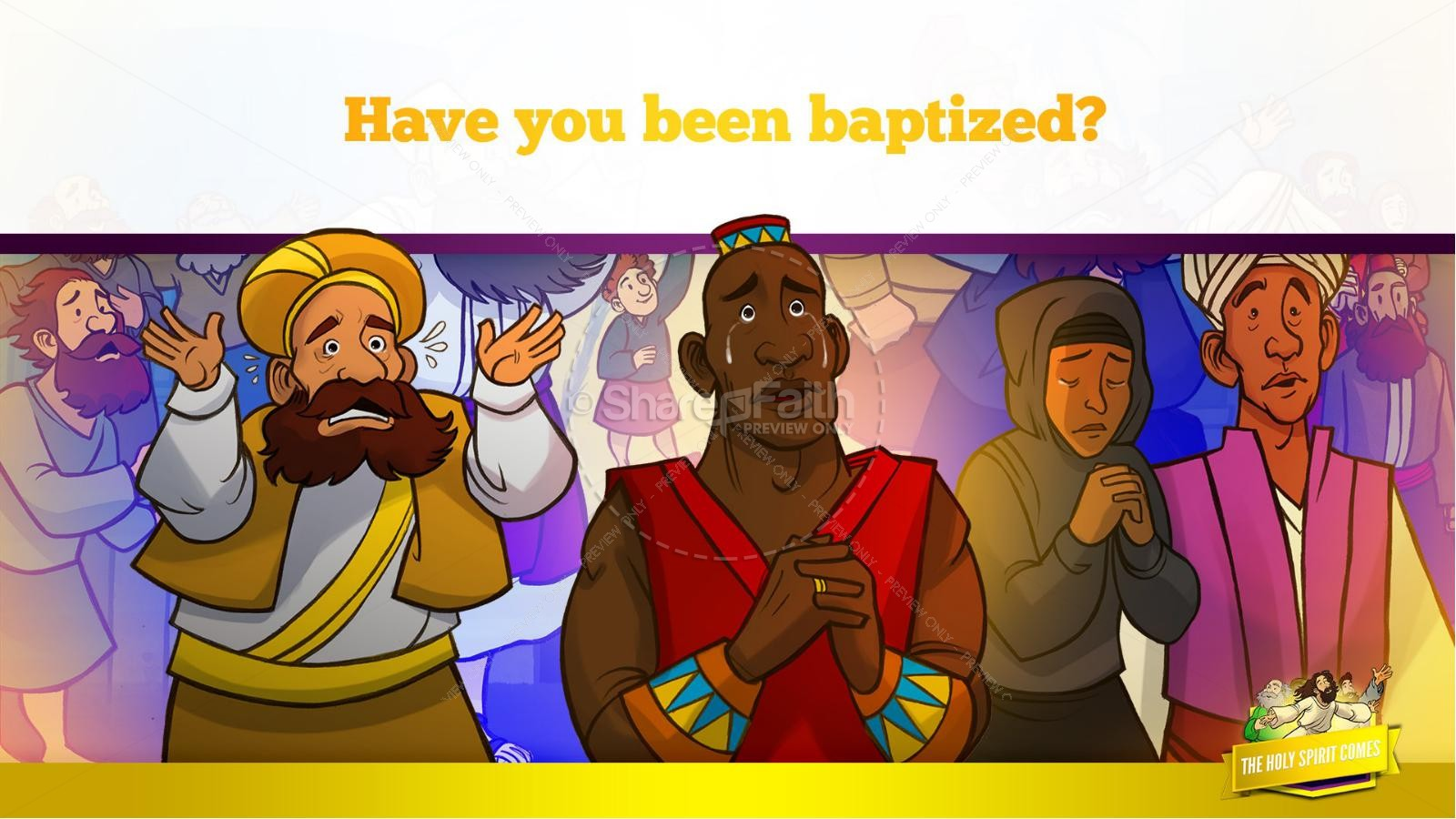 Acts 2 The Holy Spirit Comes Kids Bible Story | slide 33