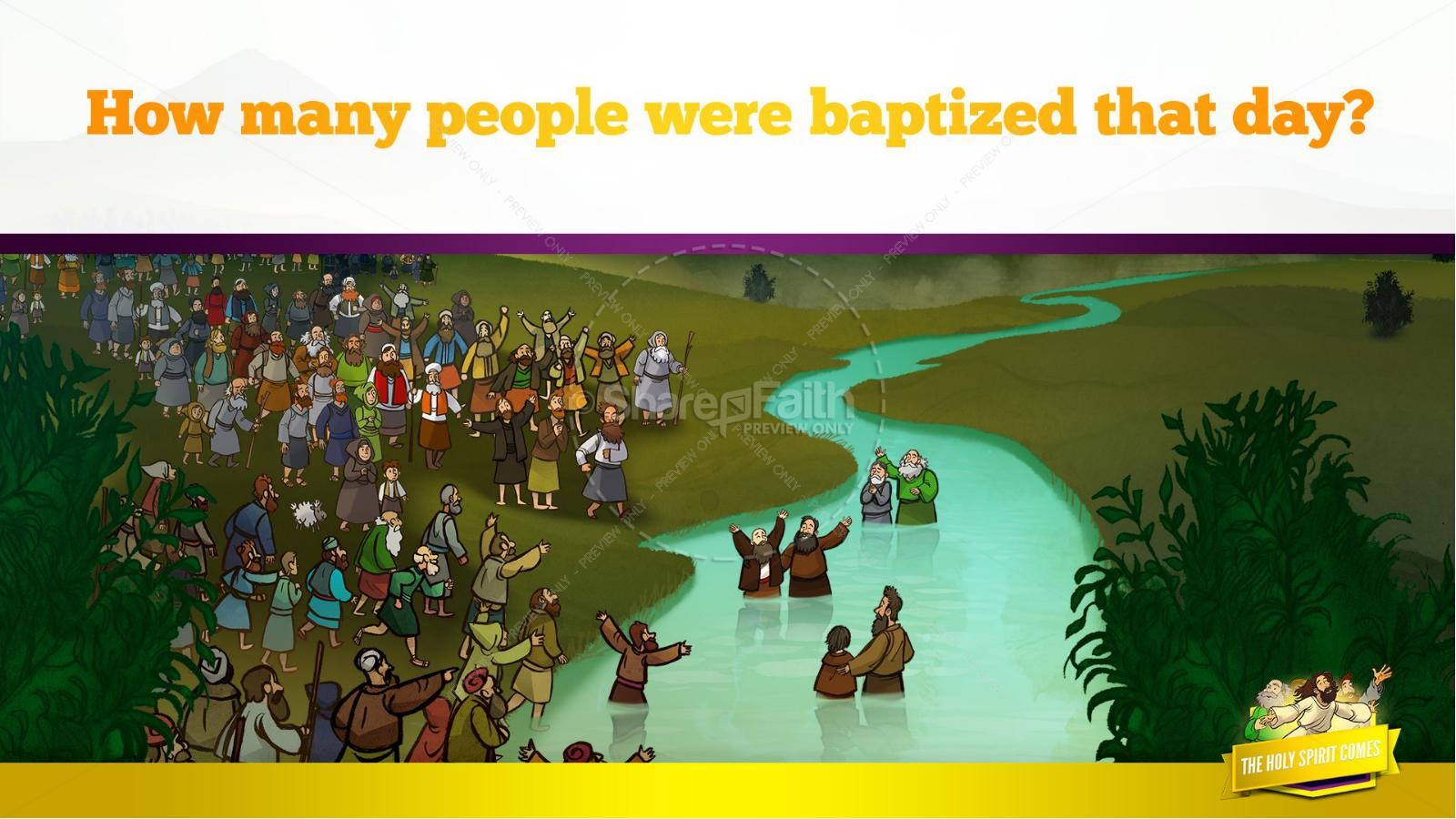 Acts 2 The Holy Spirit Comes Kids Bible Story | slide 35