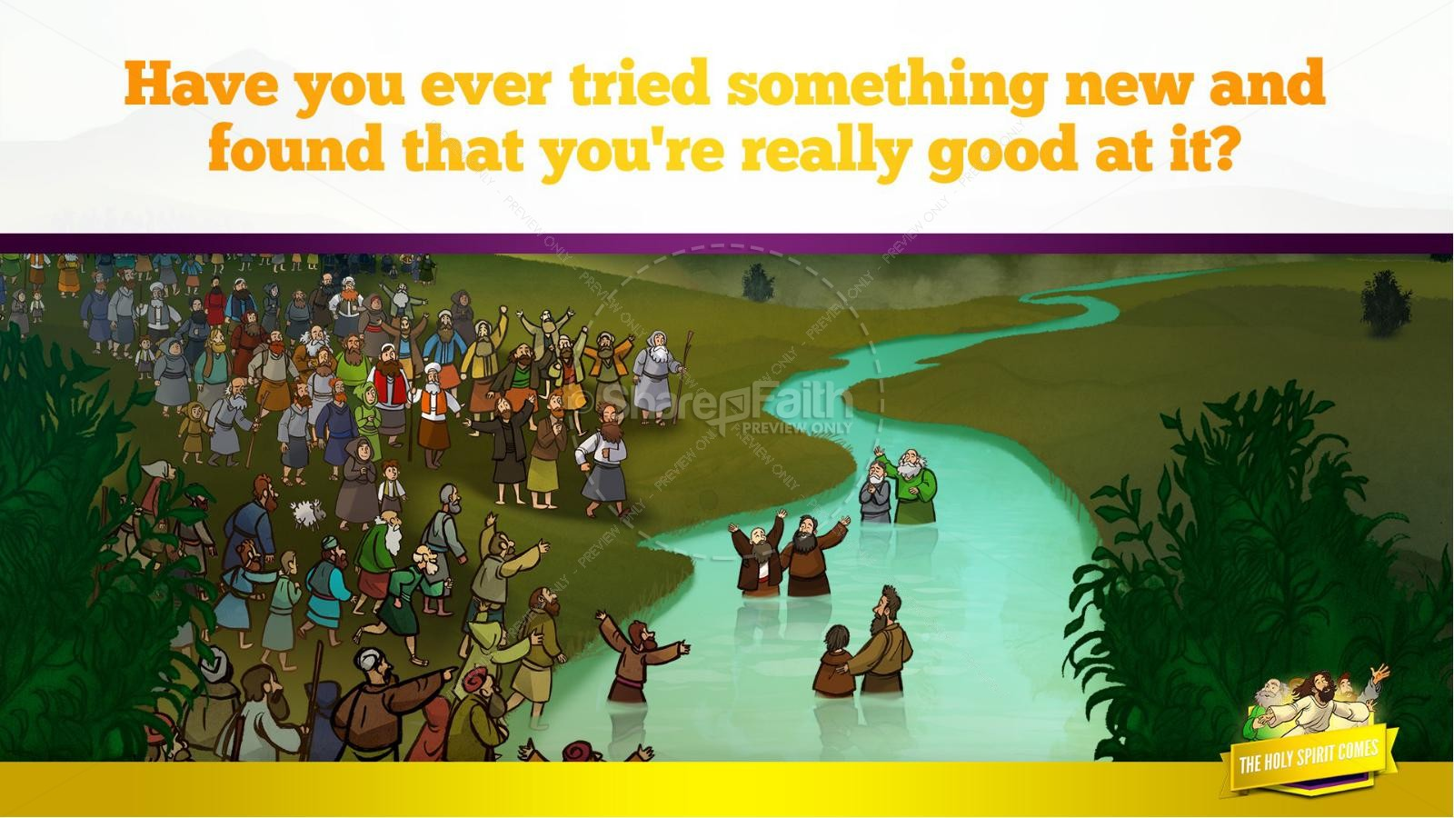 Acts 2 The Holy Spirit Comes Kids Bible Story | slide 37