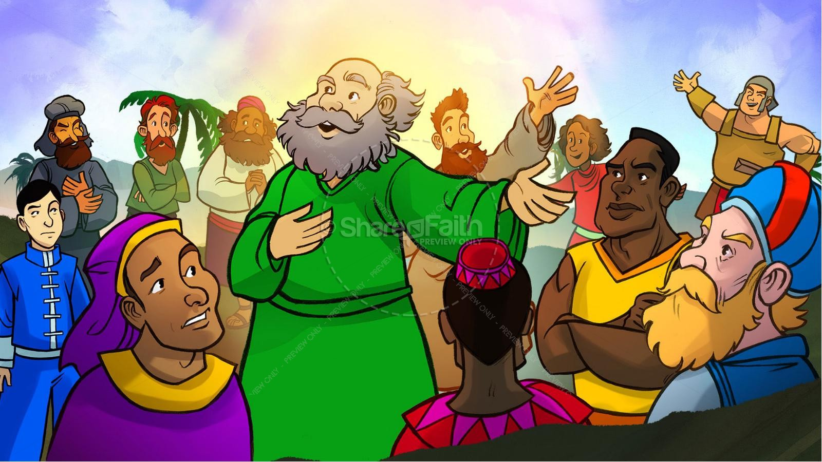 Acts 2 The Holy Spirit Comes Kids Bible Story | slide 5