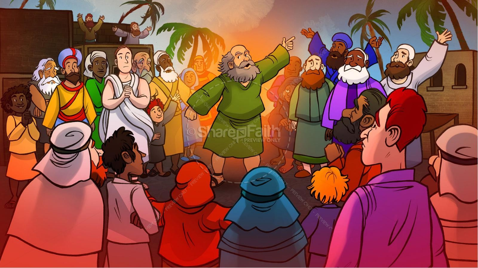 Acts 2 The Holy Spirit Comes Kids Bible Story | slide 6
