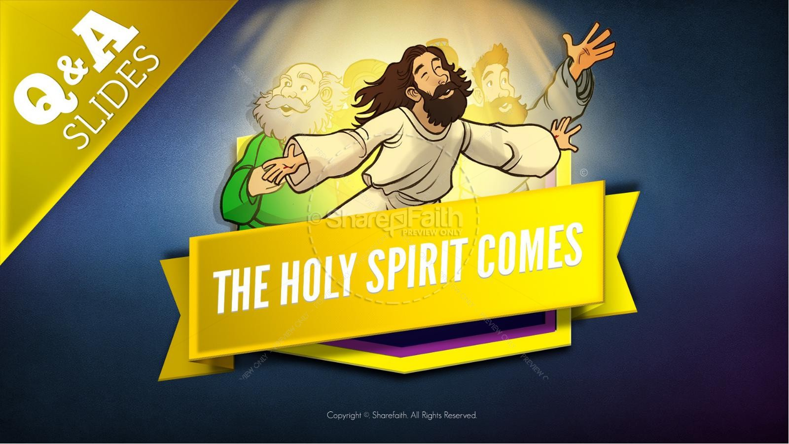 Acts 2 The Holy Spirit Comes Kids Bible Story | slide 9