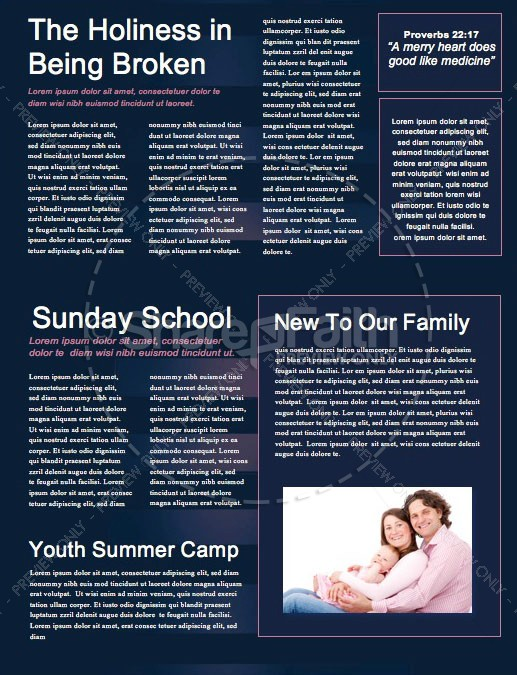 Prodigal Son Church Newsletter Template