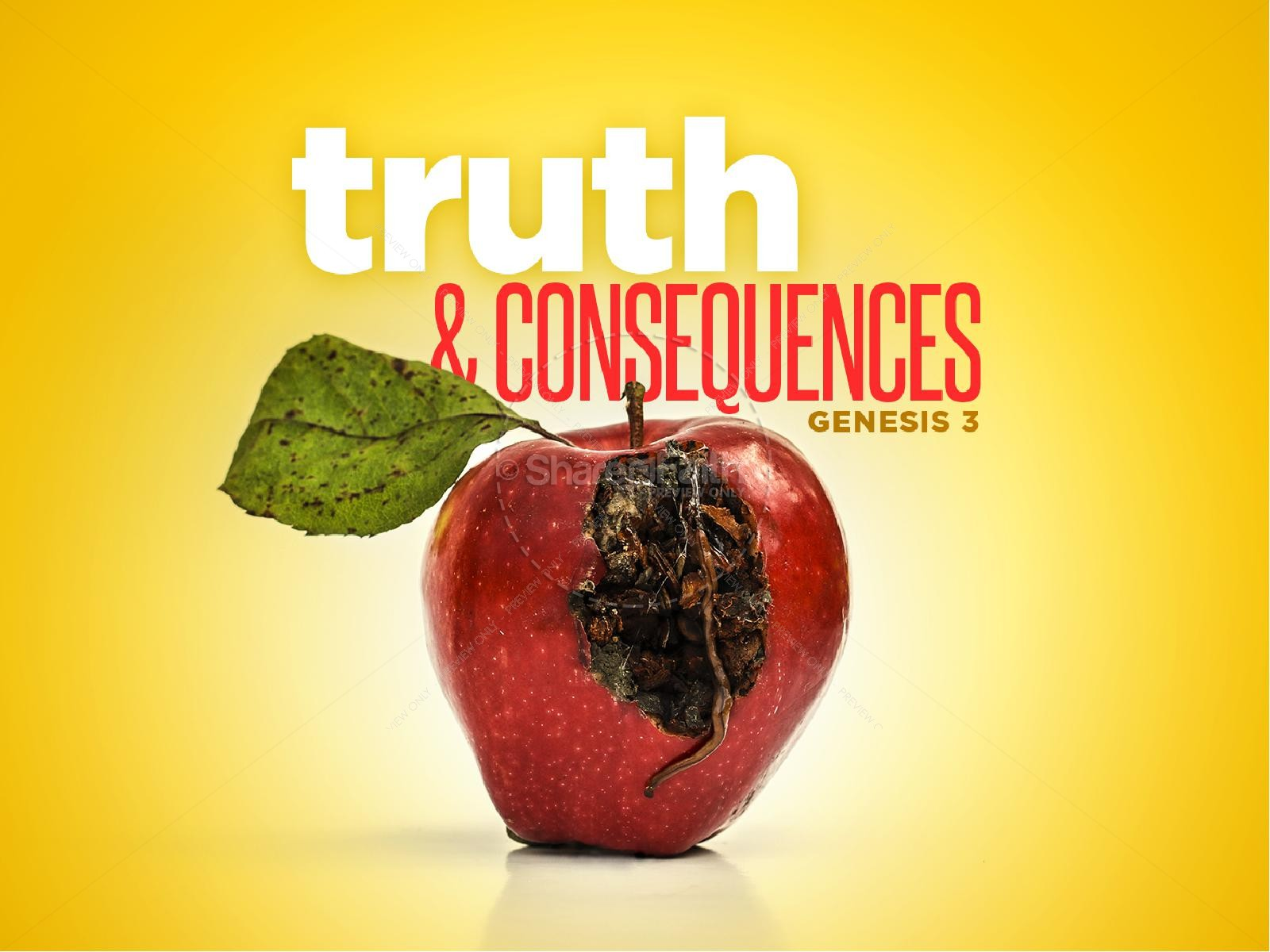 Truth & Consequences Sermon PowerPoint