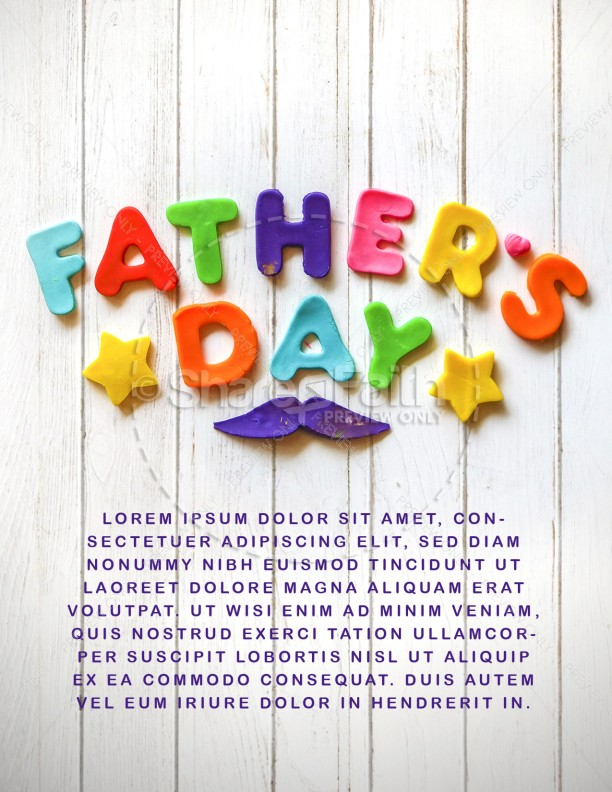 Father's Day We Love You Dad Church Flyer
