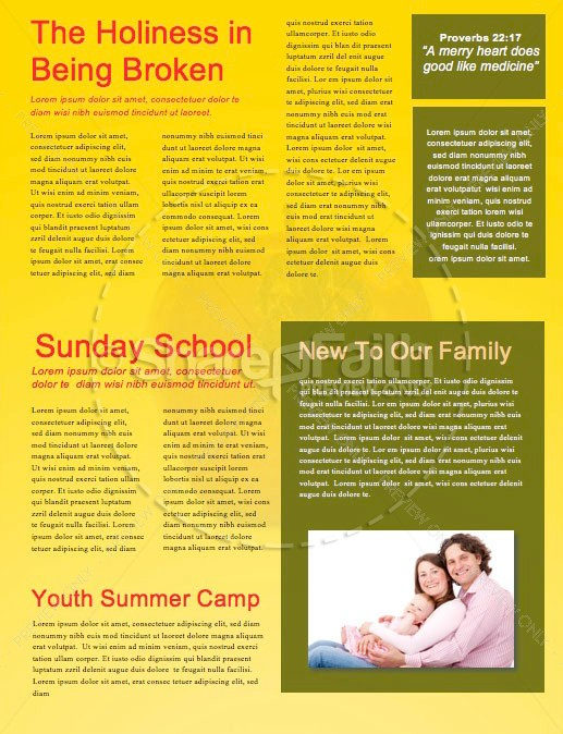 Truth & Consequences Church Newsletter Template | page 2