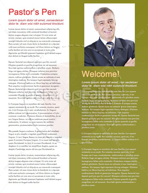Truth & Consequences Church Newsletter Template