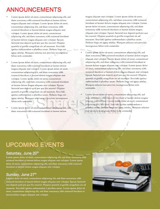 Truth & Consequences Church Newsletter Template | page 4