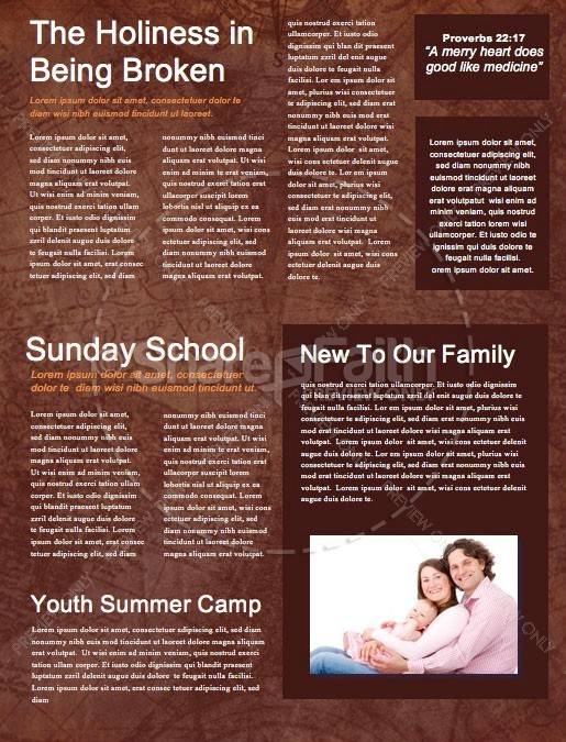 Acts Of The Apostles Church Newsletter Template