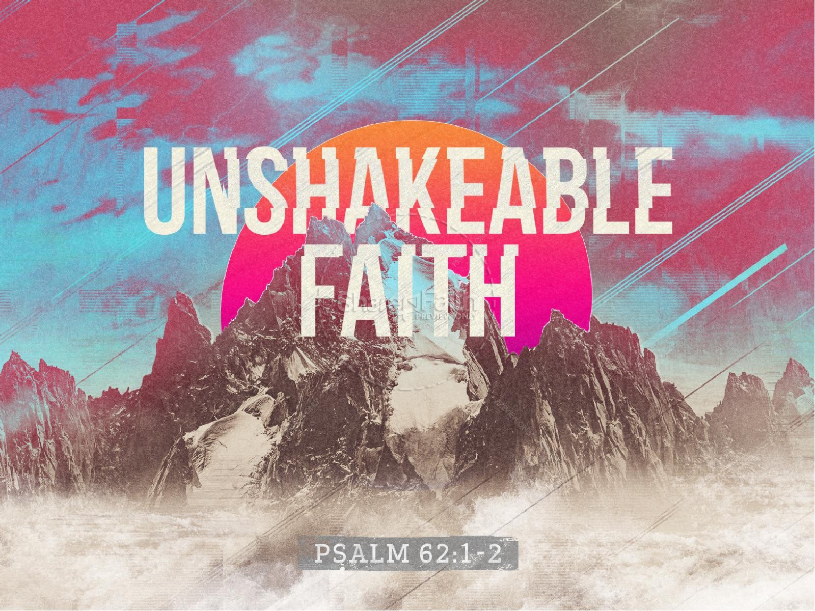 Unshakeable Faith Sermon Series PowerPoint Template