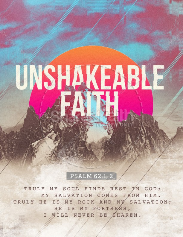 Unshakeable Faith Sermon Series Flyer Template | page 1