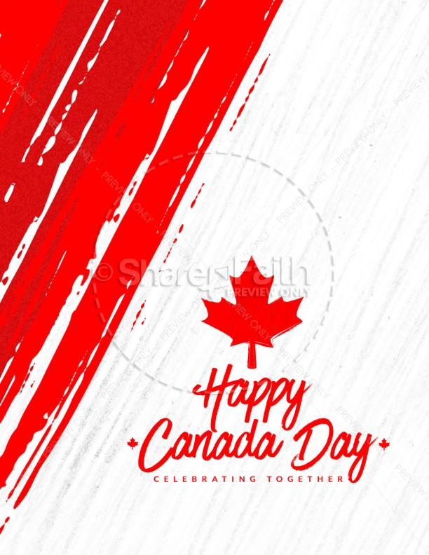 Canada Day Church Flyer Template