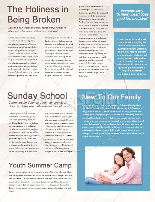 Unshakeable Faith Sermon Series Newsletter Template | page 2