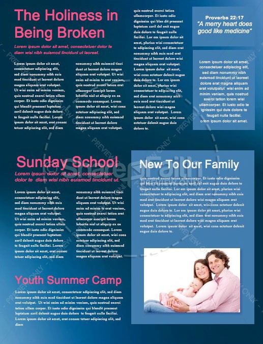 Love In Action Church Newsletter Template