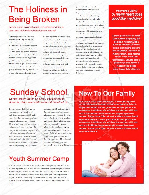 Canada Day Church Newsletter Template | page 2