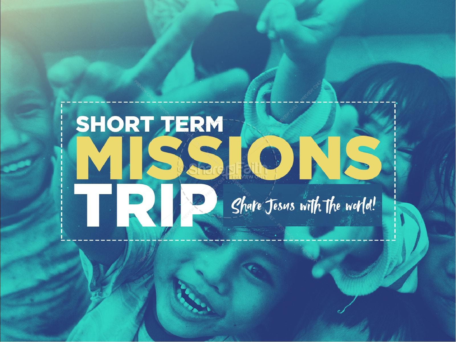 Church Missions Trip PowerPoint Template