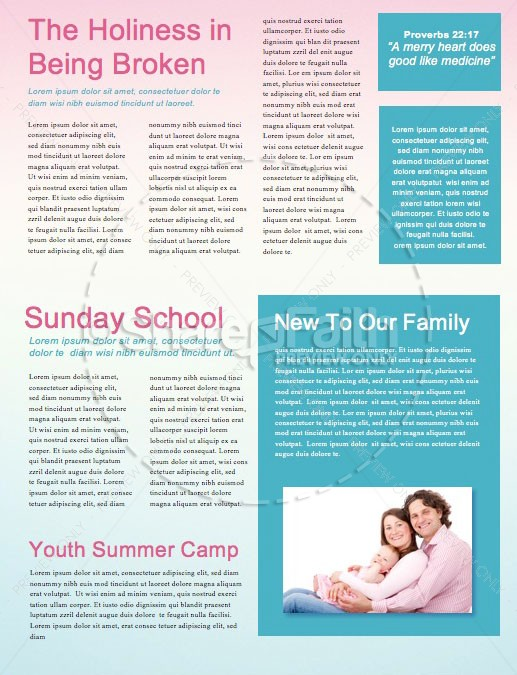 Summer Church Events Newsletter Template