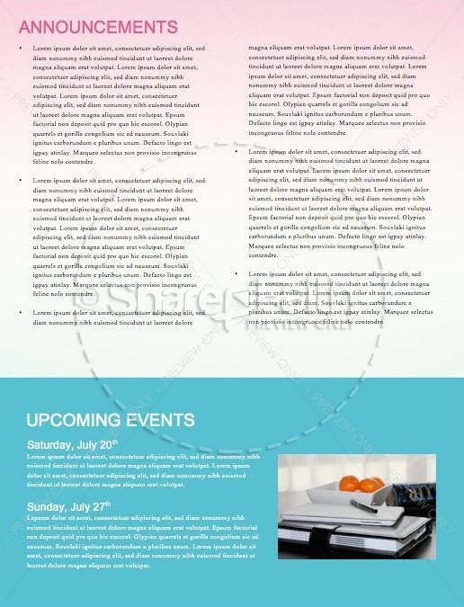 Summer Church Events Newsletter Template | page 4