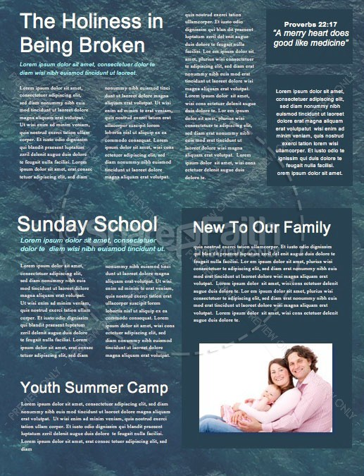 Walk On Water Church Newsletter Template | page 2